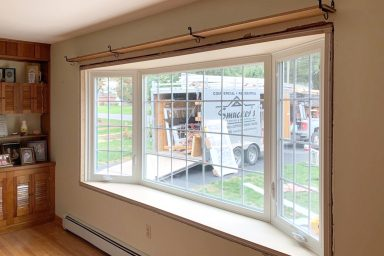 bay window replacements inside before and after 1 5 pictures project gallery smuckers exteriors home improvement contractors general contractors lancaster berks chester pa