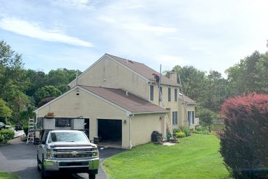 stucco to siding before and after pictures project gallery smuckers exteriors home improvement contractors general contractors lancaster berks chester pa