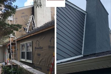 amish contractors in pa siding before and after project image