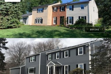amish contractors in pa siding installation before and after project