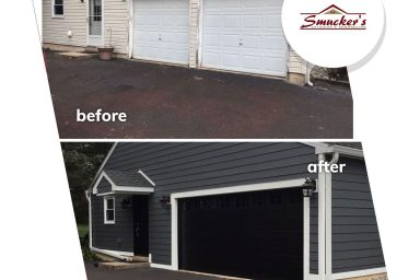 amish contractors in pa garage door installation finished