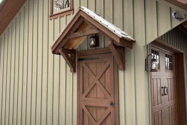 amish contractors in pa barn door installation completed