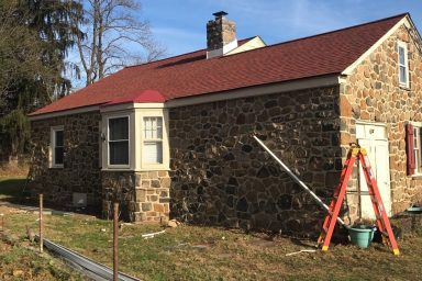 amish contractors in pa red roof installation completed