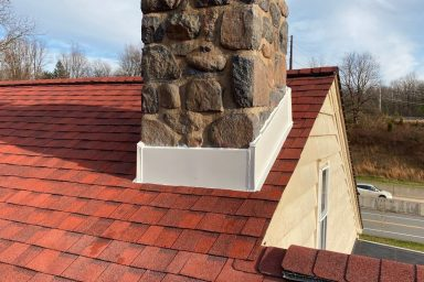 amish contractors in pa red roof shingle installation chimney sealed